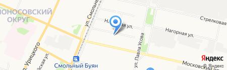 Лодемское участковое лесничество на карте Архангельска