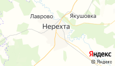 Гостиницы города Нерехта на карте