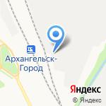 Северный Экспресс на карте Архангельска