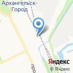 Архангельский линейный отдел МВД России на транспорте на карте Архангельска