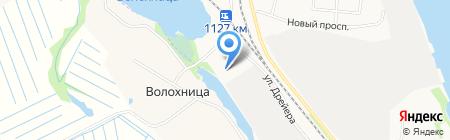Северный пекарь на карте Архангельска