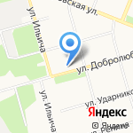 Флавия на карте Архангельска