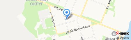 Продуктовый магазин на Индустриальной на карте Архангельска