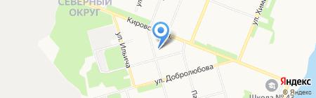 Средняя общеобразовательная школа №37 на карте Архангельска