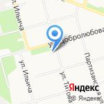 Былина на карте Архангельска