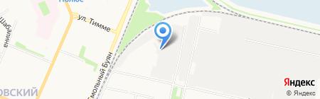 Принт на карте Архангельска