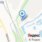 Восточный на карте Архангельска