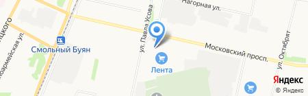 Буревестник на карте Архангельска