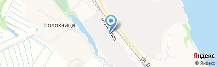 Банька на Левом на карте Архангельска