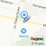 На Московском на карте Архангельска