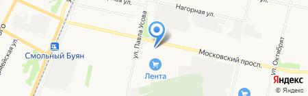 Сауна на Московском проспекте на карте Архангельска