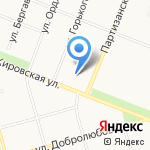 Метелица на карте Архангельска