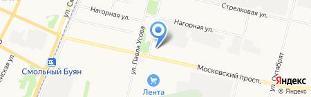АЗС Роснефть на карте Архангельска