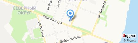 Хлебная лавка на карте Архангельска