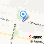 Архангельские тепловые сети на карте Архангельска