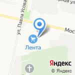 Красная Звезда на карте Архангельска