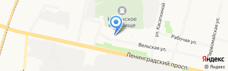 Ильинское 95 на карте Архангельска
