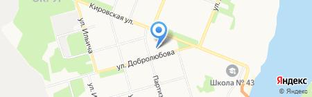 Детский сад №88 на карте Архангельска