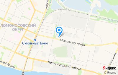 Местоположение на карте пункта техосмотра по адресу г Архангельск, пр-кт Московский, д 25