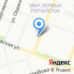Виста на карте Архангельска