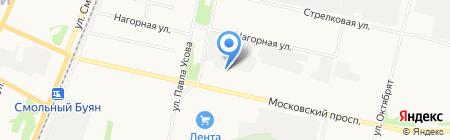 Экотон на карте Архангельска