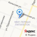 Калинка на карте Архангельска