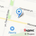 Архангельское ТП-1 на карте Архангельска