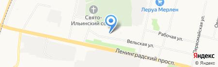 Ателье на Вельской на карте Архангельска