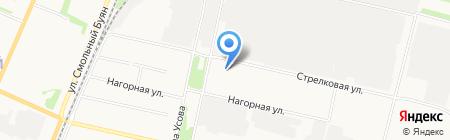 Дельта-Онега+ на карте Архангельска