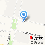 Северная слобода на карте Архангельска