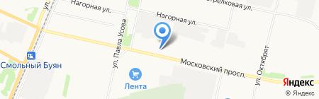 Дымовой на карте Архангельска