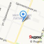 Алёнушка на карте Архангельска