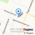 Речецветик на карте Архангельска