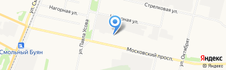 Модуль на карте Архангельска
