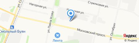 Регент на карте Архангельска