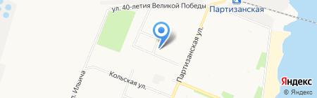 Общежитие на карте Архангельска