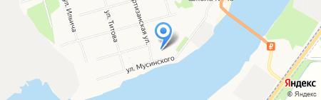Столовая на Партизанской на карте Архангельска