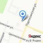 Автокомплекс на Малиновского на карте Архангельска
