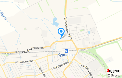 Местоположение на карте пункта техосмотра по адресу Краснодарский край, г Курганинск, ул Луговая, д 7