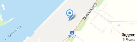 Кузнечевский комбинат строительных конструкций и материалов на карте Архангельска