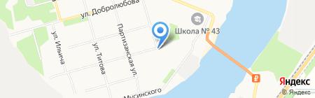 Помор на карте Архангельска