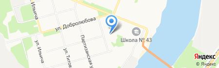 Буфет на ул. Кутузова на карте Архангельска