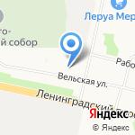 Гвоздичка на карте Архангельска