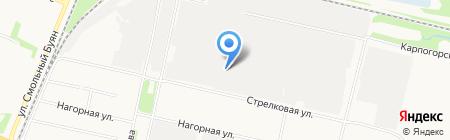 Спецавтохозяйство по уборке города на карте Архангельска