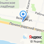 Мулатка на карте Архангельска