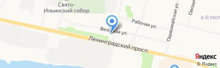 Ремонтный центр на ул. Касаткиной на карте Архангельска