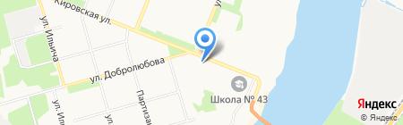 Клото на карте Архангельска