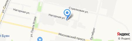 Болид на карте Архангельска