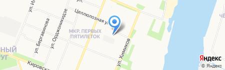 Физкультурно-спортивный комплекс имени А.Ф. Личутина на карте Архангельска