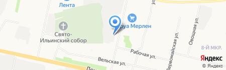 Метро на карте Архангельска